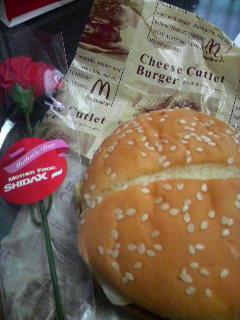 チーズカツバーガー