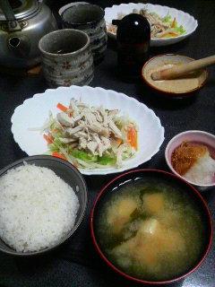蒸し鶏と温野菜