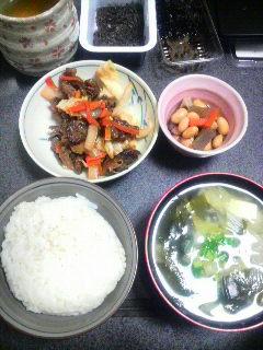 牛肉と野菜の甘酢炒め