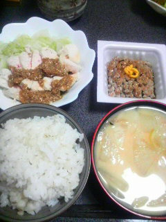 白菜と鶏肉の棒々鶏サラダ