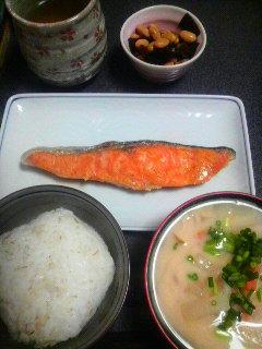 銀鮭・煮豆