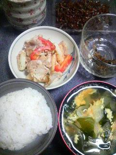 豚肉と長芋のみそマヨ炒め