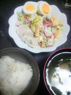 鶏ハムとマカロニサラダ