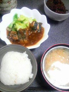 サバのカレー風味煮