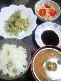 なた豆の天ぷら