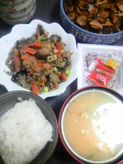 野菜のおから炒め
