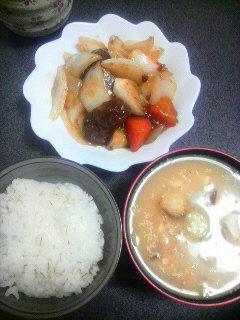 玉ねぎ酢豚