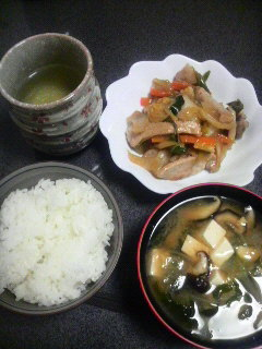 豚の味噌漬け・野菜炒め