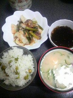 牛肉と野菜炒め
