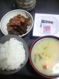 豚肉とエノキと蒟蒻の甘辛炒め
