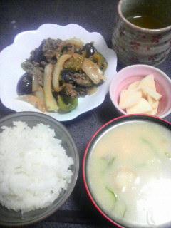 野菜の肉味噌炒め