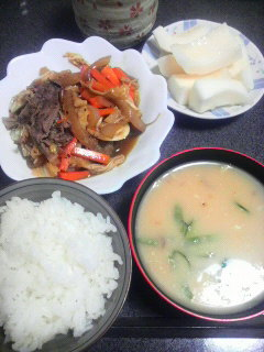 牛肉と野菜の焼き肉のたれ炒め
