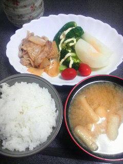 豚肉と大根の焼き肉のたれ炒め