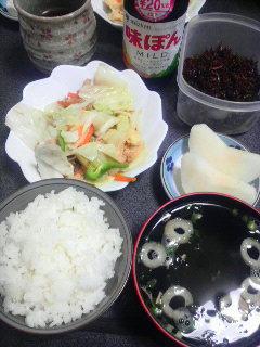 ツナとキャベツのポン酢炒め